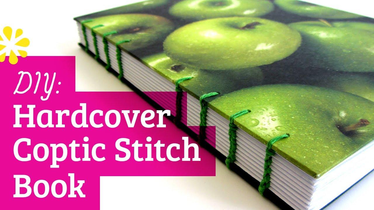 diy hardcover coptic stitch