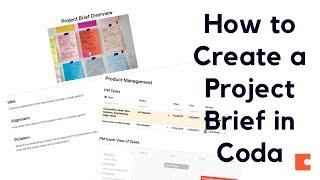Proje Kısa Bir Öğretici Oluşturma - Google Docs Alternatif (Coda)