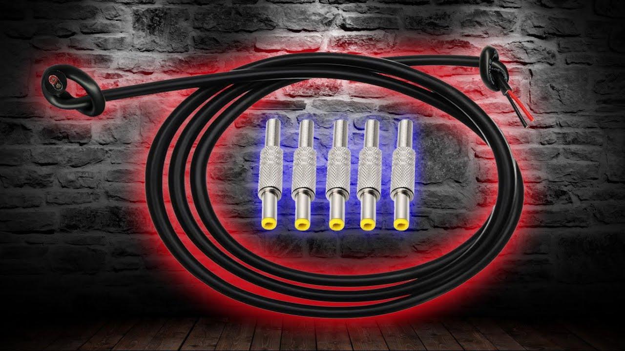 Силиконовый двухжильный провод и штекеры 5,5х2,5 с Aliexpress