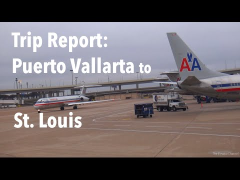TRIP REPORT - American Airlines (MD-80), Puerto Vallarta to St. Louis