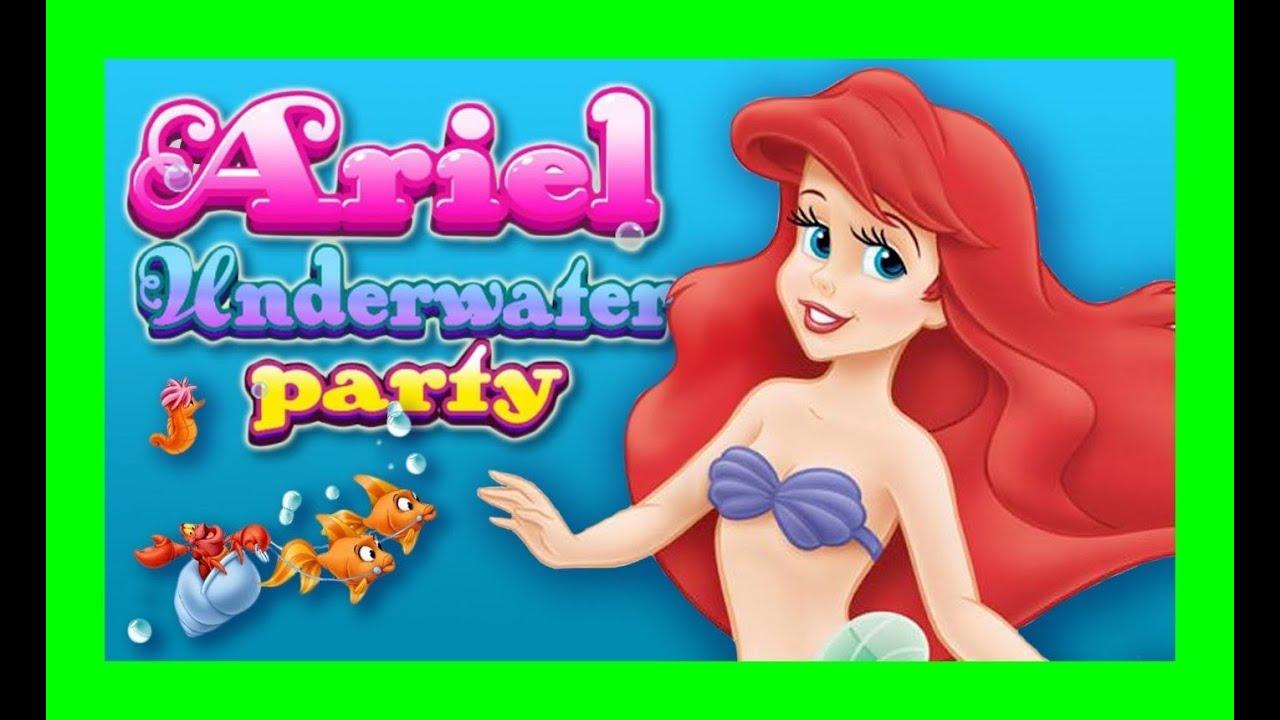 Disney Princess Dress Up Games Ariel The Little Mermaid Underwater ...