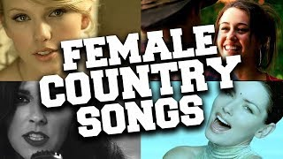 Top 50 Most Popular Female Country Songs