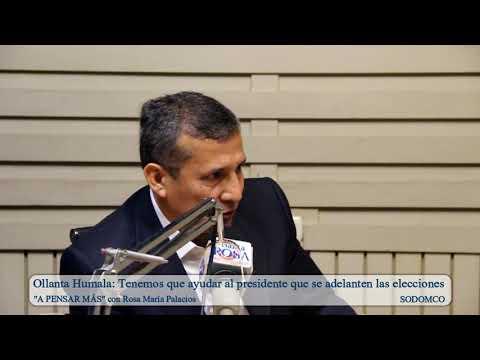 Ollanta Humala: Tenemos que ayudar al presidente que se adelanten las elecciones