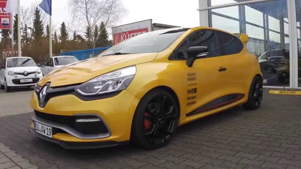 renault clio iv rs by autohaus waldow start up revs. Black Bedroom Furniture Sets. Home Design Ideas
