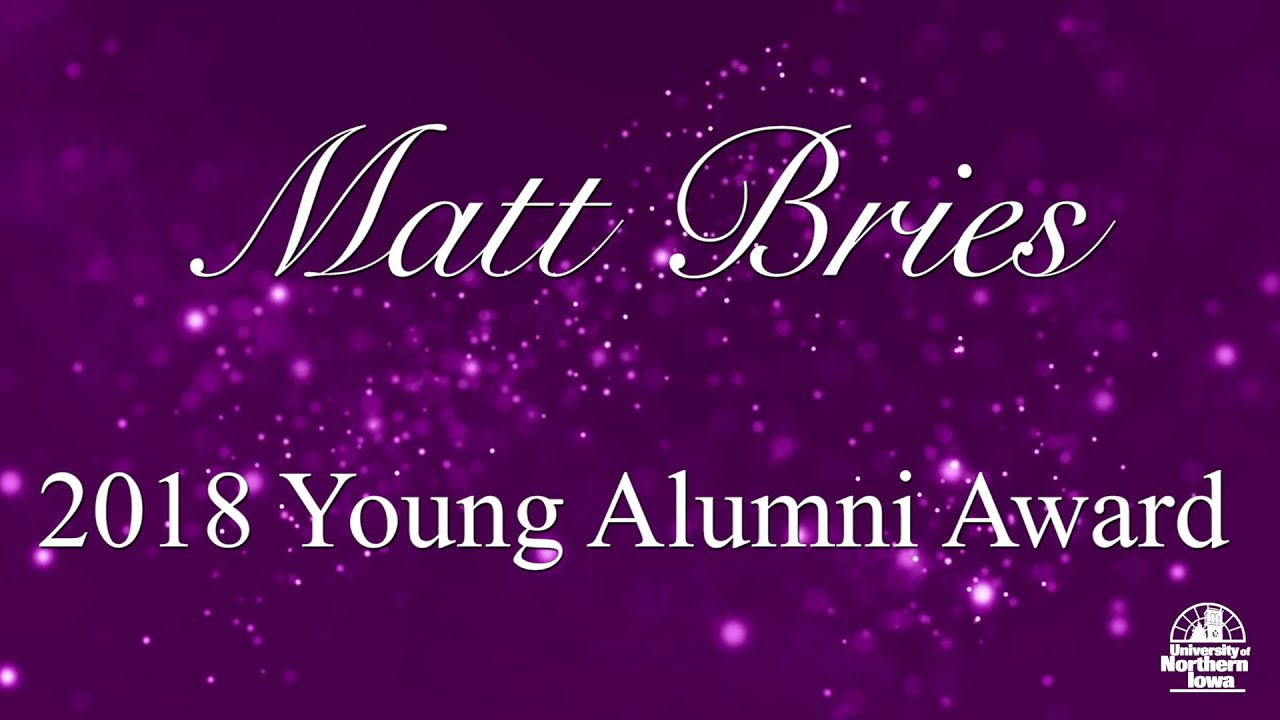 Image for Matt Bries, '09, Receives Young Alumni Award   2018 UNI Distinguished Awards webinar