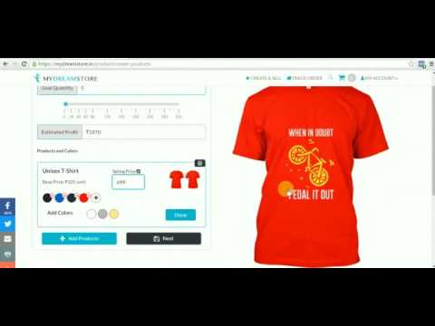 How To Launch A  T-shirt Campaign On My Dream Store  ?