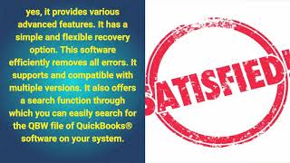 Stellar Phoenix Recovery for QuickBooks® Software