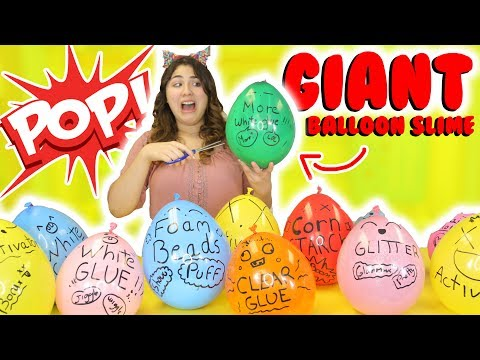 GIANT BALLOON SLIME TUTORIAL | How to make Instagram balloon slime | POP IT slime | Slimeatory #169