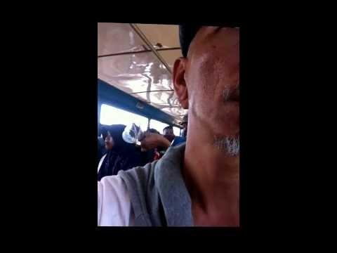 Live karaoke on board public transport