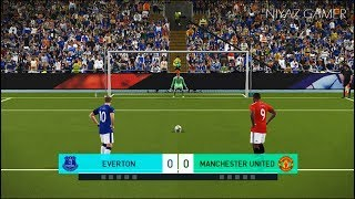 EVERTON vs MANCHESTER UNITED | Penalty Shootout | PES 2018 Gameplay PC