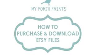 How To Purchase & Dowฑload Digital Files on Etsy (2019)