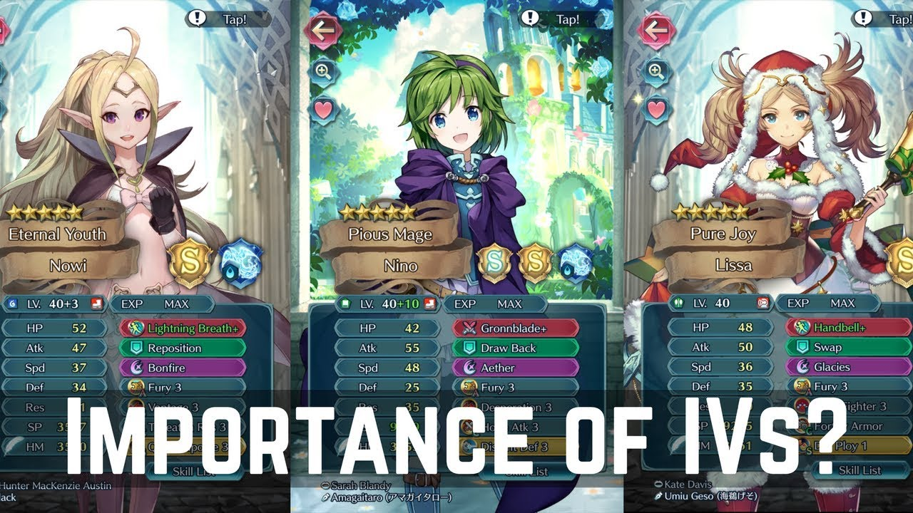 How Important Are Ivs In Feh My Hero Roster And Thoughts Live Streamed Fire Emblem Heroes