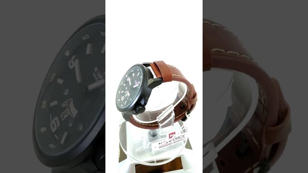 eaf2827a881a6 relogio de pulso masculino pulseira em couro marrom caixa preta original