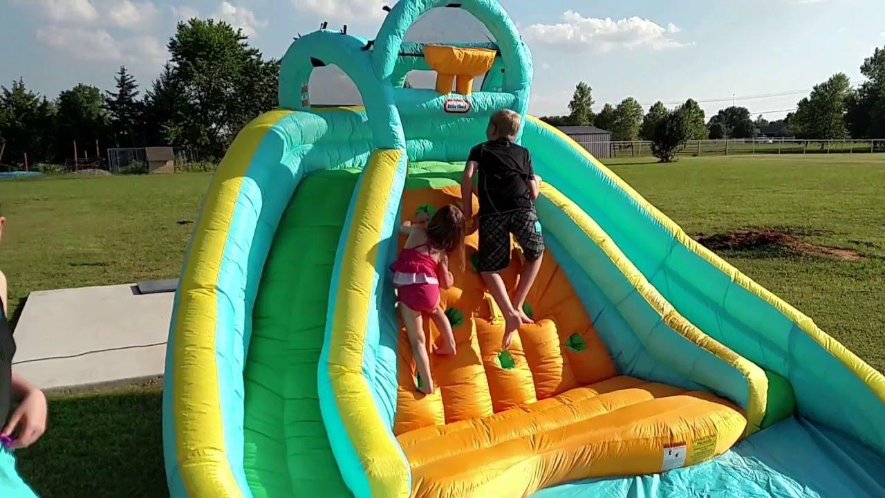 Backyard Fun Little Tikes Pool And Slide Youtube