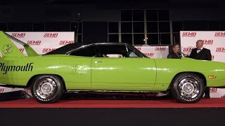Mark Worman's 707 HP Hellcrate Supercharged 1970 Plymouth Superbird Tribute at the SEMA Reveal.