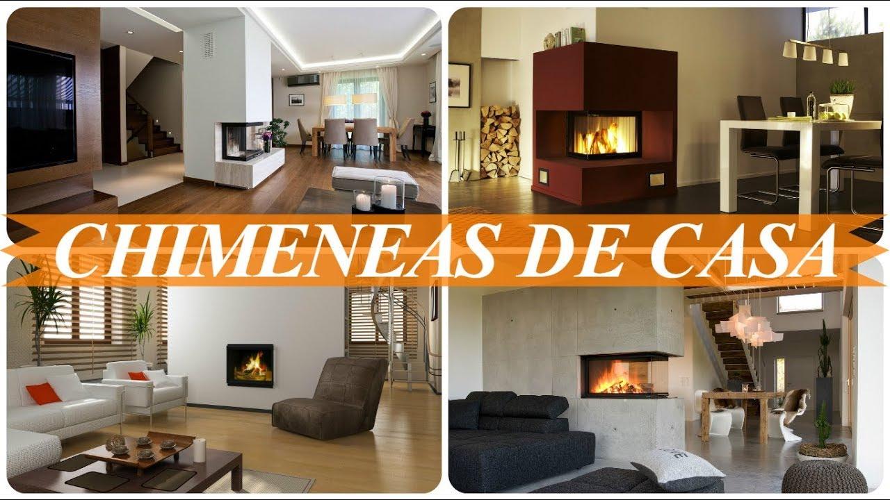 Chimeneas modernas para interior de casa youtube - Chimenea de pared ...