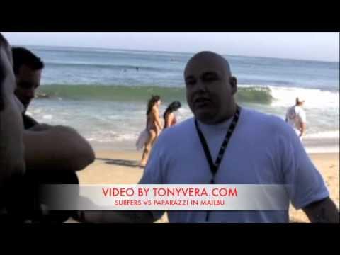 Fight Club! Surfers Vs. Paparazzi At Malibu Beach