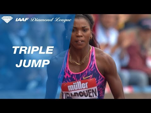 Caterine Ibargüen 14.51 wins the Women's Triple Jump - IAAF Diamond League Birmingham 2017