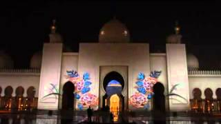 SHEIKH ZAYED MOSQUE LIGHT SHOW UAE NATIONAL DAY CELEBRATIONS