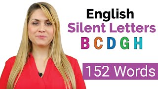 152 Words with Silent Letters | English Pronunciation Practice