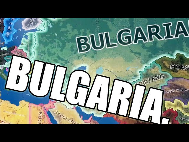 Bulgaria conquers everything around them in Hearts of Iron 4