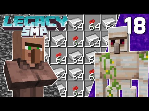Epic Iron Farm on the Nether Roof - Legacy SMP #18 (Multiplayer Let's Play) | Minecraft 1.16