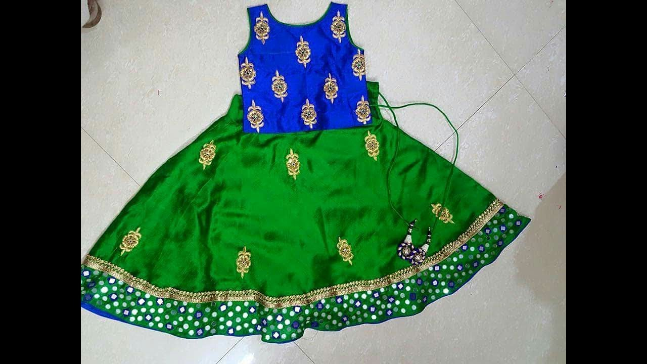 1389ea812f Beautiful Pattu Pavadai Designs For Girl Babys || latest langa dress  collections for kids