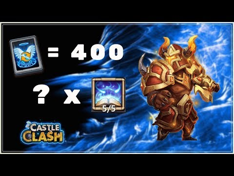 ROLLING 400 TALENT REFRESH CARDS FOR 5 VITE ARIES - CASTLE CLASH