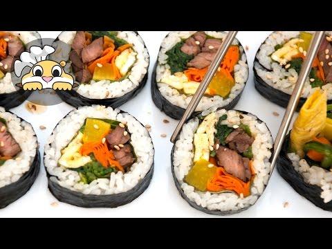 Gimbap (Kimbap):  Kimbap Recipe 김밥