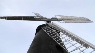 Brixton WIndmill with sails turning and a short interview with millwright Paul Sellwood.