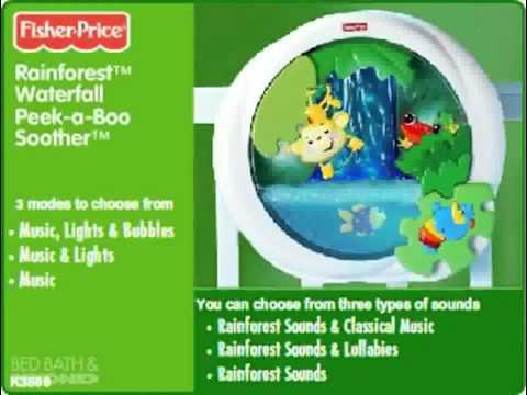Fisher Price Rainforest Waterfall Peek-a-Boo Soother