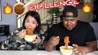 Tiny Asian Girl VS Big Black Man Spicy Ramen Challenge