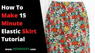 How To Make 15 Minute Elastic Skirt Tutorial(Send the pictures of the things you make to my facebook group https://www.facebook.com/groups/160282520660736/ 1.check out are trendy fashion brand ..., 2015-07-29T07:15:51.000Z)