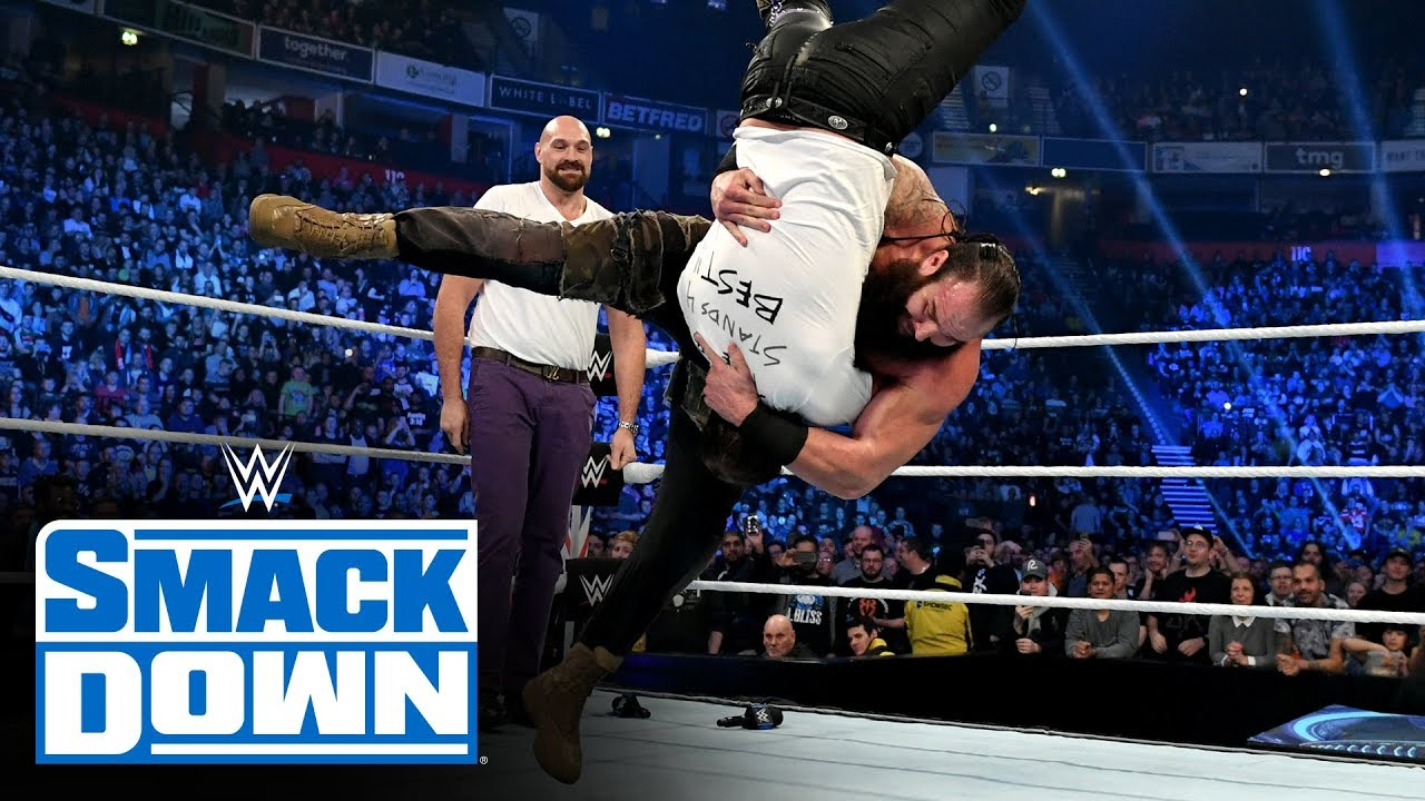 Tyson Fury and Braun Strowman team up to drop The B-Team: SmackDown, Nov 8, 2019