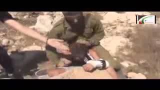 بالفيديو.. جندي إسرائيلي يعتدي بالضرب على طفل فلسطيني