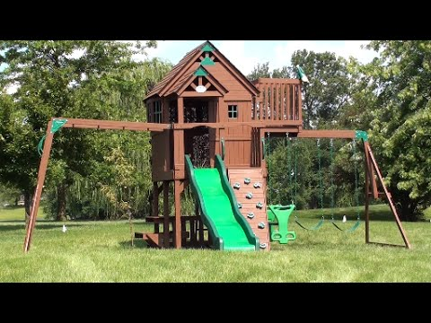 moving the skyfort play set to our new home like a boss youtube