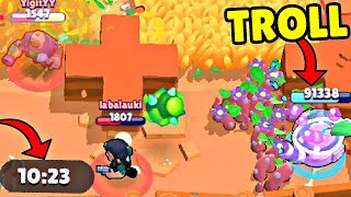 *WORLD RECORD* TROLL WITH SPROUT in Brawl Stars! Wins & Fails #152