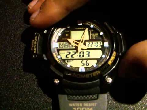 Casio thermometer/altimeter/barometer 5176-sgw-400h watch time.