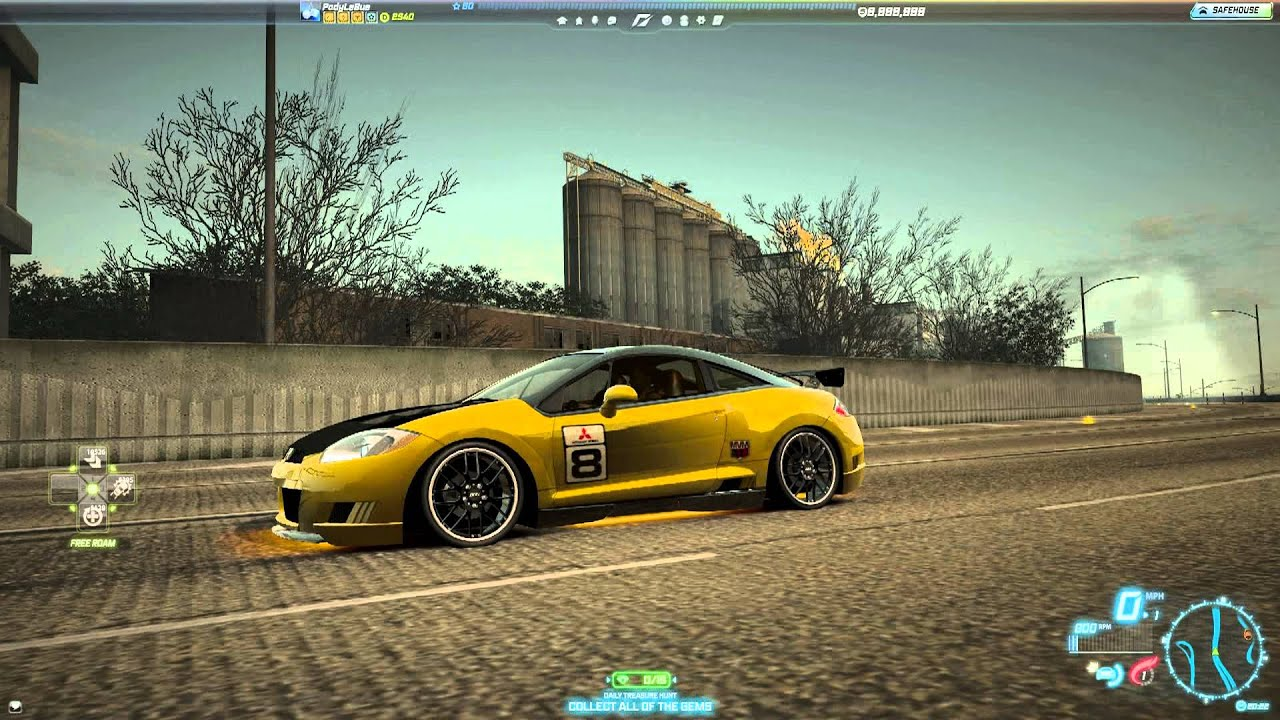Need for speed world mitsubishi eclipse gt c spec bic 13 october 2013 youtube