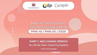 Gambar cover (Part 1) Welcoming Speech from Ibu Mulia Dewi Karnadi, CEO Online Pajak