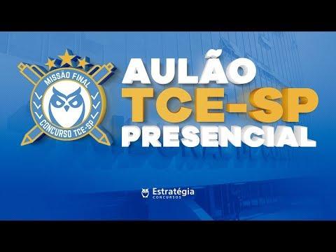 Revisão Concurso TCE-SP | Aulão presencial em SP