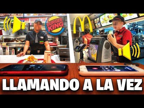 Llamo A La VEZ Al McDonalds Y Al Burger King Y No Creerás Lo Que Pasó...
