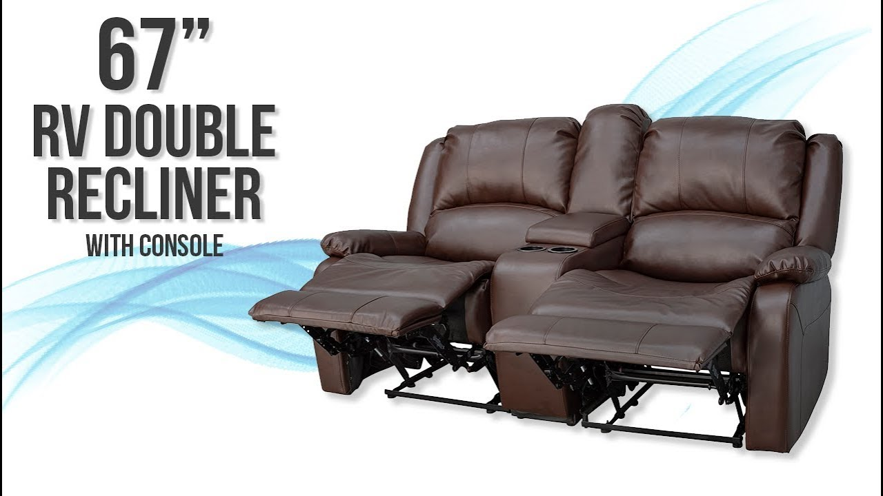 67 Recpro Charles Double Rv Recliner Sofa With Console