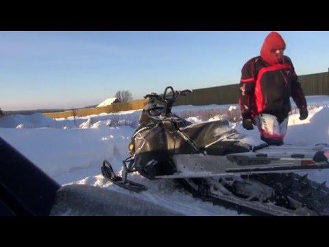 Покатушки на снегоходах  Охота пуще неволи 3