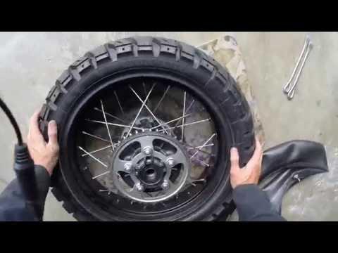 Africa Twin tire change (Heidenau and TKC80)