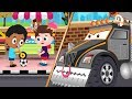 Red SuperCar Ricky on Mission to Stop Monster Crusher Machine in City | Kids Cartoon Rhyme