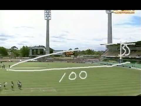 Mark Waugh vs Shahid Afridi BIGGEST SIX OF ALL TIME! 1997 at Perth vs New Zealand