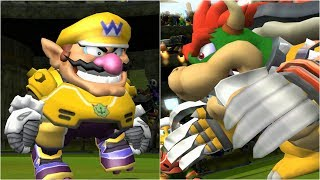 Mario Strikers Charged - Wario vs Bowser - Wii Gameplay (4K60fps)