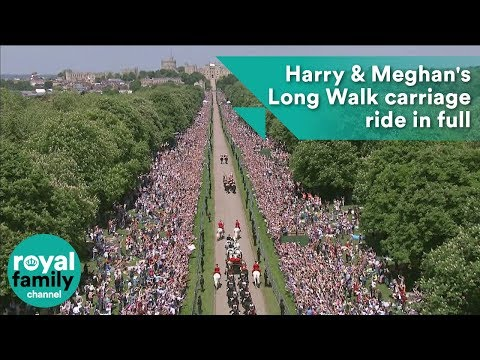 Royal Wedding: Harry and Meghan's Long Walk carriage ride in full