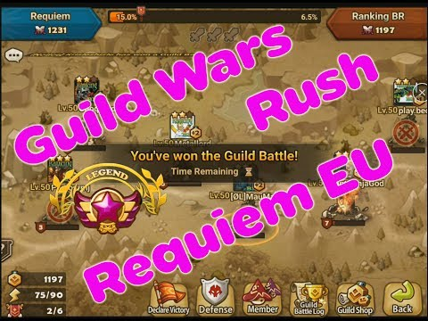 Summoners war: Guild war Rush EU Requiem vs Squadone-Wrath-Hispania-Immortals-Ragepack-AF:legends